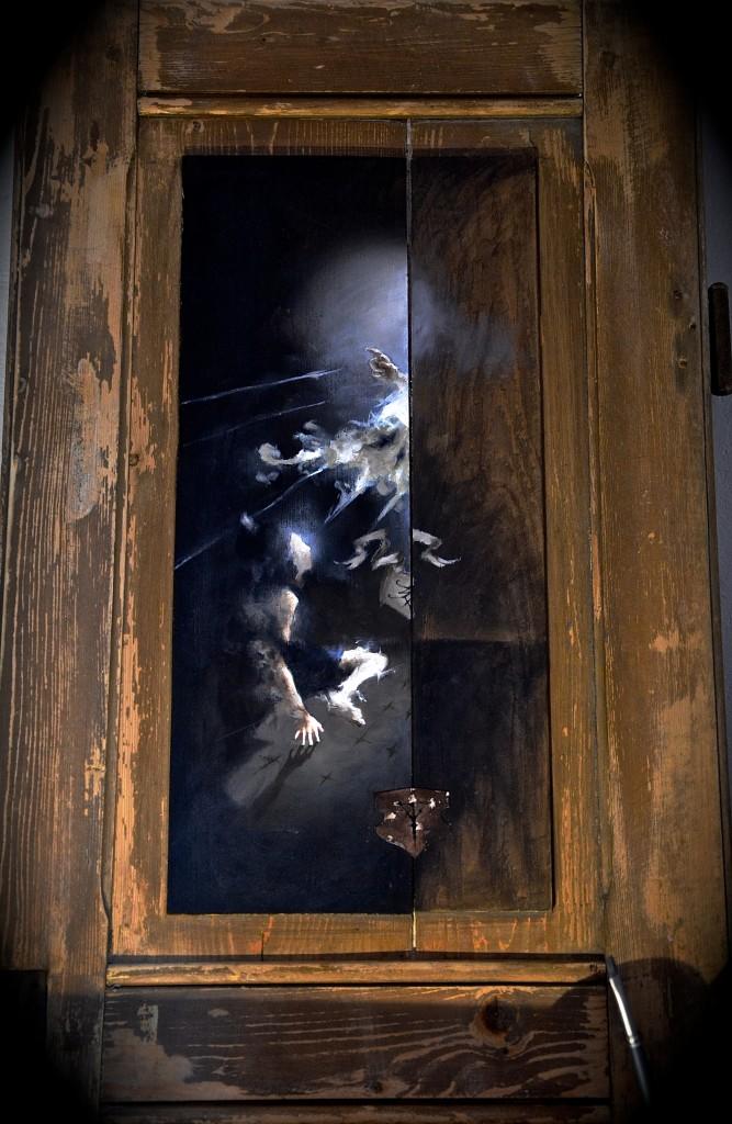 Epiphanie, juin-septembre 2015, huile sur bois, 45 x 73 cm