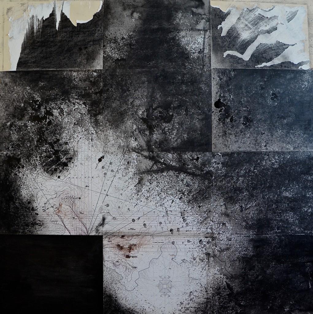 Cime de la colonne (final), avril 2016, encre et crayon sur papier, 96 x 96 cm