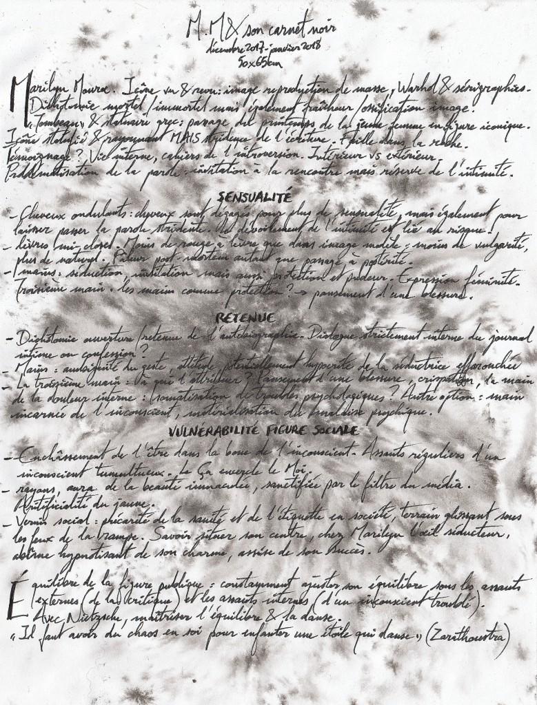 Commentaire M.M. & son carnet noir